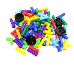 TEKERLEKLİ BORU LEGO (POŞETLİ) 56 PARÇA