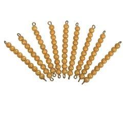 9 ADET 10 LU BONCUK BARLAR - 9 GOLDEN BEAD BARS OF TEN